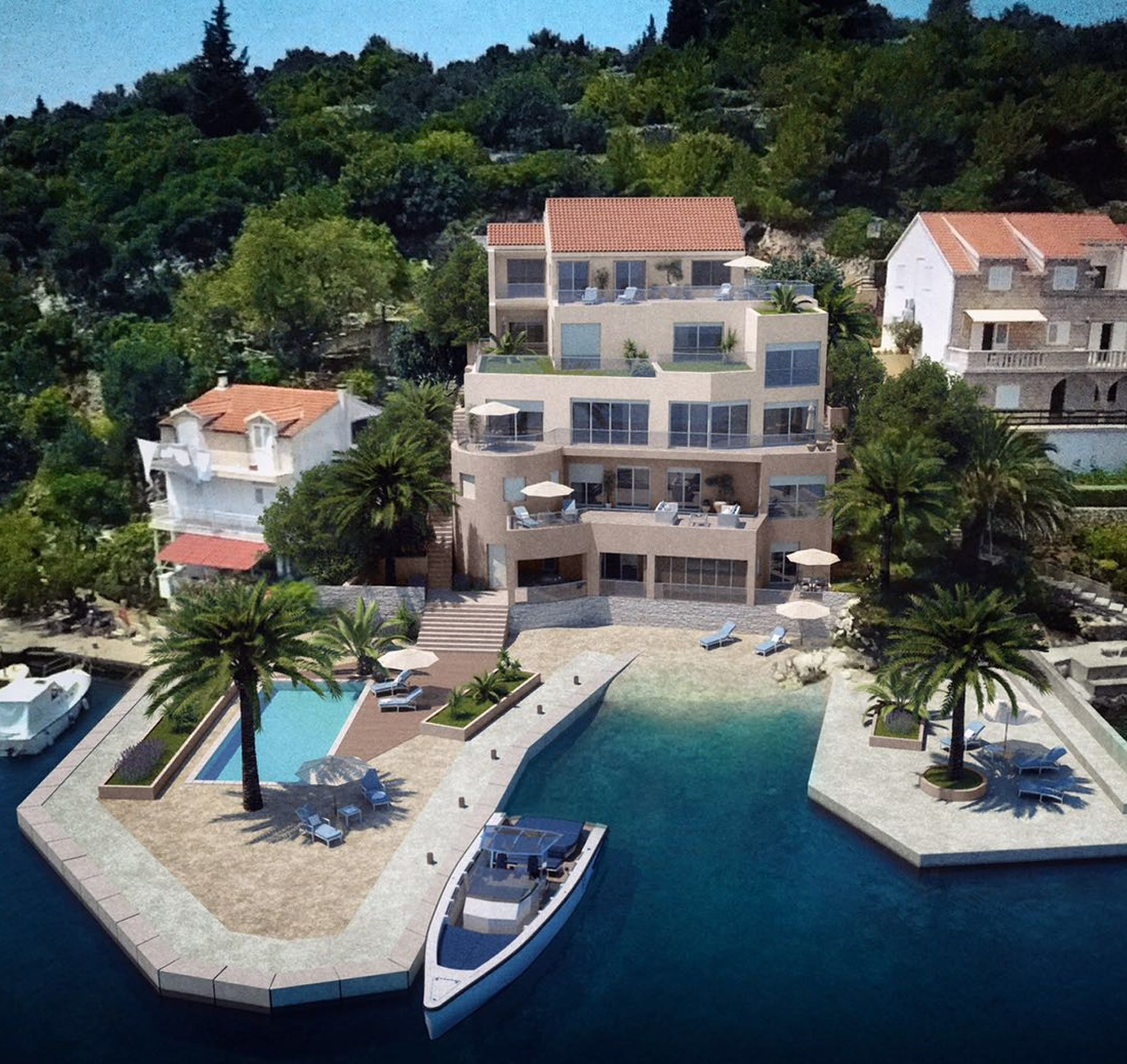Apartment building Racisce Korcula